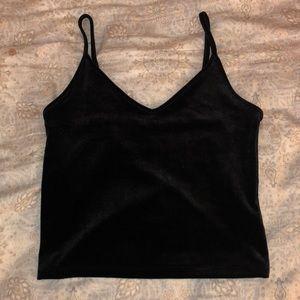 BRAND NEW black velvet tank top